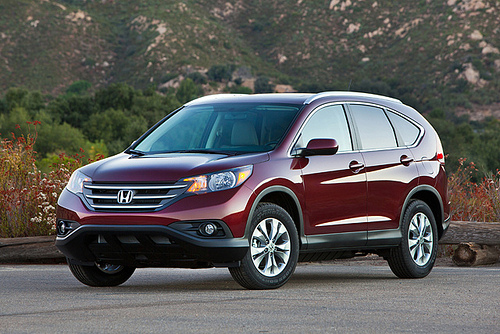 The Honda CR-V, which consistently ranks as one of the safest SUVS to drive each year.
