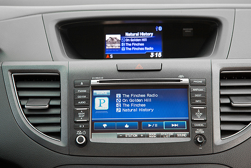 Mobile broadband in cars allows people to use numerous apps, including Pandora internet radio.