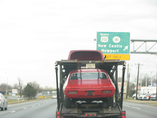 Auto Hauler on Highway