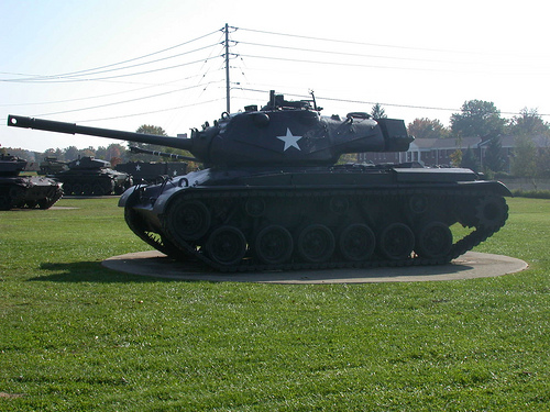 Military Tank on Display