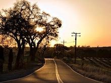 Dark Road at Sunset
