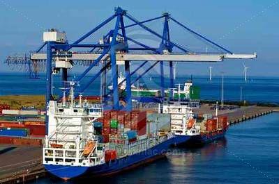 Shipping Terminal at Shipping Port