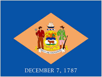 State of Delaware Official Flag