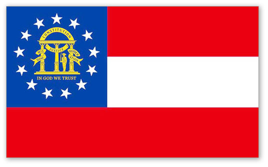 State of Georgia Official Flag
