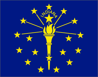 State of Indiana Official Flag