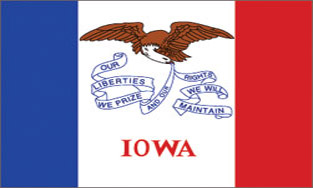 State of Iowa Official Flag