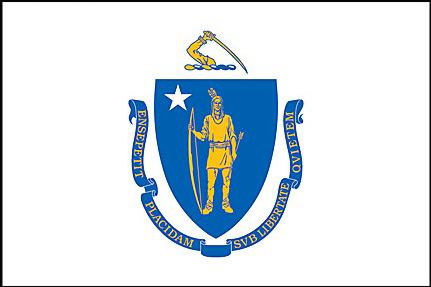 State of Massachusetts Official Flag
