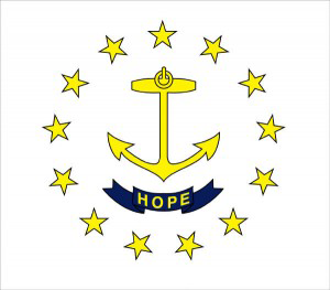 State of Rhode Island Official Flag