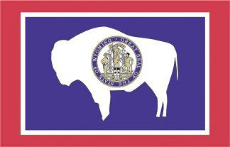 State of Wyoming Official Flag